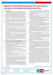 Allgemeine Geschäftsbedingungen für die Akzeptanz ... - Interhoga