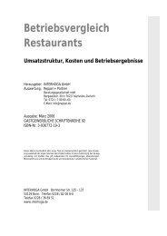 Betriebsvergleich Restaurants - Interhoga