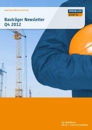 Bauträger Newsletter Q4 2012 - Interhomes AG