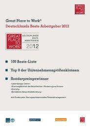 Great Place to Work® Deutschlands Beste Arbeitgeber 2012 - mib ...
