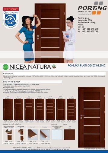 NN NICEA NATURA - Dvere