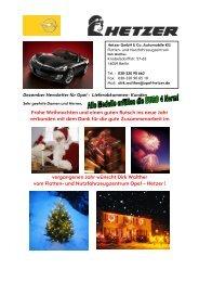 Frohe Weihnachten Opel Hetzer Newsletter Dezember ... - Interhoga