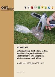 Untersuchung des Bodens mit XRF - FABOst-Merkblatt - Kanton Zürich