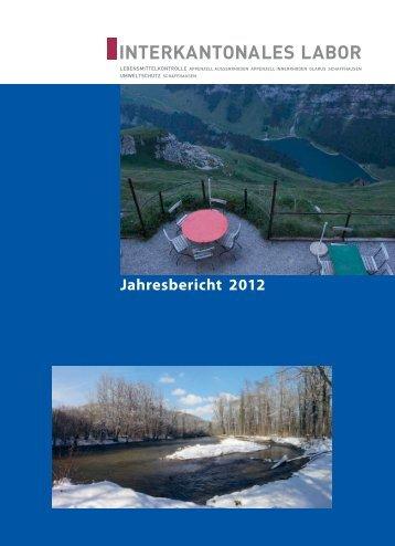 Jahresbericht 2012 - Interkantonales Labor