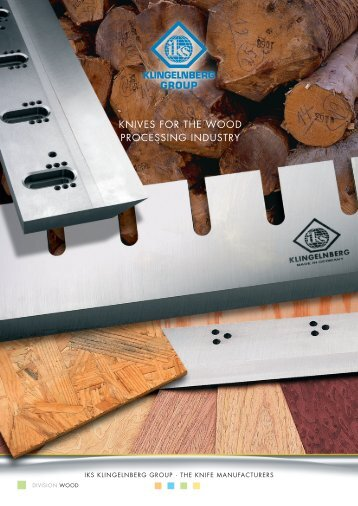 Machine Knives for the Wood Processing Industry