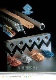 Maschinenmesser für die Recycling Industrie - IKS Messerfabrik ...
