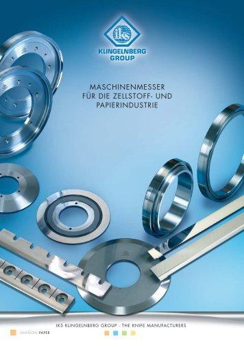 maschinenmesser für die zellstoff- und papierindustrie - IKS ...