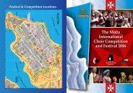 The Malta International Choir Competition and ... - interkultur.com