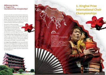 1. Xinghai Prize International Choir Championships - interkultur.com