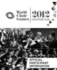 July 4 - 14 · 2012 Official ParticiPant InfOrmatiOn - interkultur.com