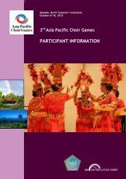 Asia Pacific Choir Games Manado (North Sulawesi ... - interkultur.com