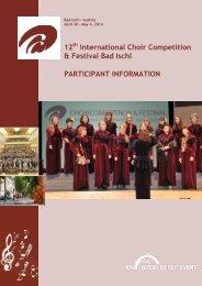 12 International Choir Competition & Festival Bad ... - interkultur.com