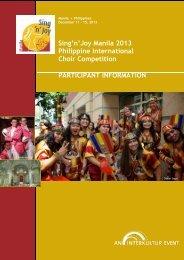 Sing'n'Joy Manila 2013 Philippine International ... - interkultur.com