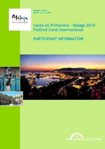 Canta en Primavera Málaga 2014 Festiva Coral ... - interkultur.com