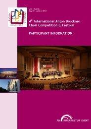4 International Anton Bruckner Choir Competition ... - interkultur.com