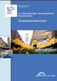 13. Internationaler Chorwettbewerb Riva del Garda ... - interkultur.com