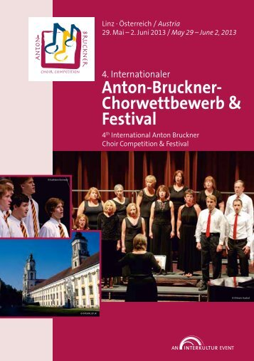 Anton-Bruckner- Chorwettbewerb & Festival - interkultur.com
