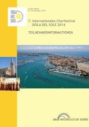 7. Internationales Chorfestival ISOLA DEL SOLE ... - interkultur.com