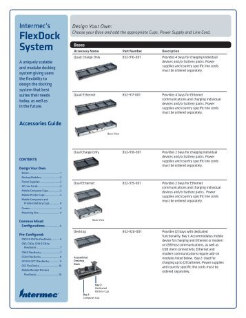 FlexDock Accessory Guide - Intermec