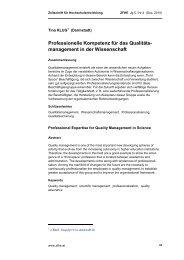 Professionelle Kompetenz für das Qualitäts- management in der ...
