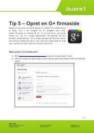 Tip 5 – Opret en G+ firmaside - Intern1 ApS