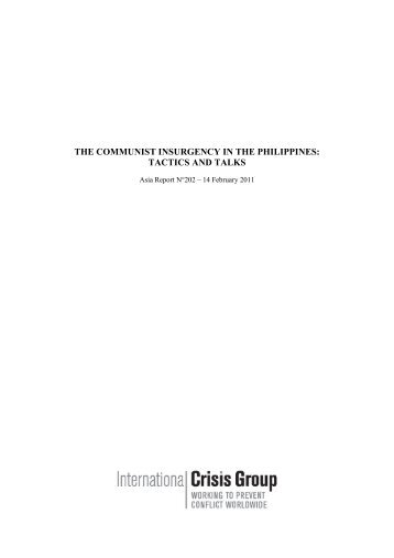 202 the communist insurgency in the philippines tactics and talks