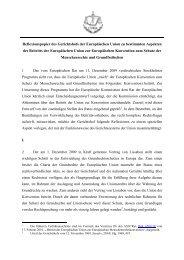 Reflexionspapier des Gerichtshofs der Europäischen Union zu ...