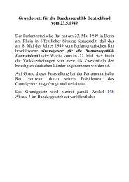 Grundgesetz für die Bundesrepublik Deutschland vom 23.5.1949 ...