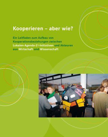 Kooperieren - aber wie? (07.2008) - sustainable Bonn