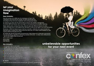 unbelievable opportunities for your next event - International Confex