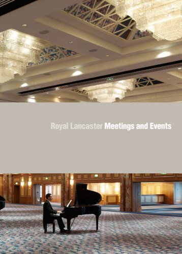 Royal Lancaster Meetings and Events - International Confex