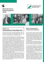 Absolventenbrief universitärer Mittelteil Uni 2010/I - International ...