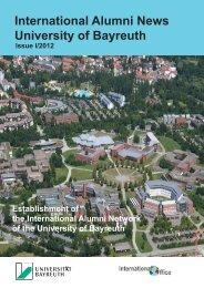 International Alumni News University of Bayreuth