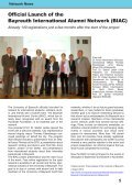 International Alumni News University of Bayreuth - Page 6
