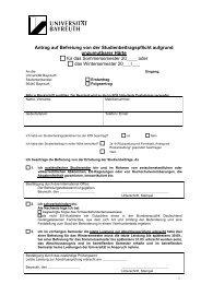 Antrag auf Befreiung von der Studienbeitragspflicht - International ...