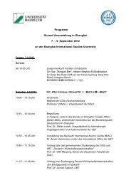 Veranstaltungsprogramm - International Office