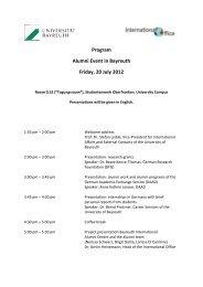Program Alumni Event in Bayreuth Friday, 20 July 2012