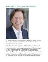 in memoriam of prof. dr. rüdiger bormann - International Office