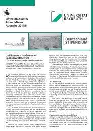 Absolventenbrief universitärer Mittelteil Uni 2011/II - International ...