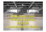 Willkommen zum GNI-B+S-Seminar 26.10.06 Lerchenfeld St. Gallen