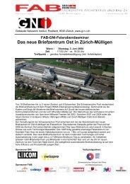 Das neue Briefzentrum Ost in Zürich-Mülligen - GNI