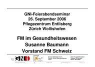 FM im Gesundheitswesen Susanne Baumann Vorstand FM ... - GNI