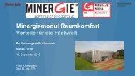 Minergiemodul Raumkomfort - GNI
