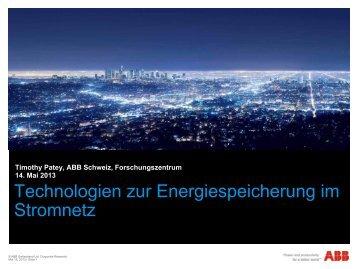Energiespeicherung im Stromnetz, Timothy Patey - GNI