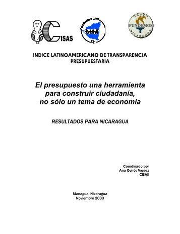 Reporte Nacional - Índice Latinoamericano de Transparencia ...