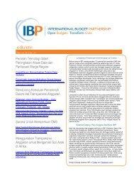 PDF of full newsletter - International Budget Partnership
