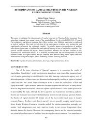 DETERMINANTS OF CAPITAL STRUCTURE IN THE NIGERIAN ...