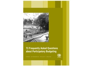 72 Frequently Asked Questions about Participatory ... - UN-Habitat
