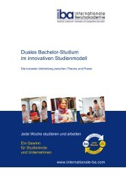 Duales Bachelor-Studium im innovativen Studienmodell