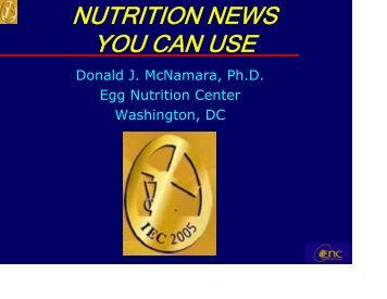 NUTRITION NEWS YOU CAN USE - International Egg Commission